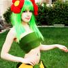 hippyjolteon: Green-haired girl strikes pose. (Bellossom Girl)