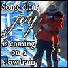 """icepixie: """"All the Queen's Horses."""" Lyrics misquoted from The Innocence Mission. ([DS] Fraser/Thatcher train joy)"""