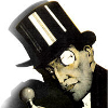laughingrat: A monocled man in a top-hat, wearing a devious and cunning expression. (Arsène Lupin)