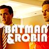 "anoyo: Harvey & Mike text ""Batman & Robin"" (suits batman & robin)"