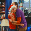 anoyo: Sheldon hugging Penny after the Leonard Nimoy napkin. (tbbt sheldon penny hug)