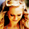 anoyo: Caroline smiling and looking down. (tvd caroline)
