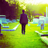 anoyo: Damon walking away through the graveyard. (tvd damon graveyard)