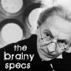 "juniperphoenix: The First Doctor wearing glasses, with text: ""the brainy specs"" (DW: One)"