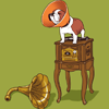 jenwryn: A dog on a record player. Sort of. (misc • life; something about a dog)