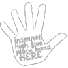 """jenwryn: """"Internet high five, place hand here"""". (misc • text; internet high-five)"""