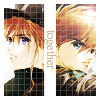 "apollymi: Duo and Heero back to back, text reads ""Together"" (GW**Duo/Heero: Together)"