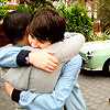 pob: clyde and luke hugging! (clyde/luke HUG)