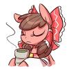 nekomikoreimu: http://modern-warmare.deviantart.com/art/Touhorse-Dreamsealer-expression-sheet-415580460 (Pony Reimu Tea Time)