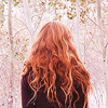 calleigha_du_shadowsong: wavy red-headed female in a black jacket from the back, standing in snow (Default)