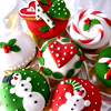 sholio: brightly colored Christmas cookies (Christmas cookies red-green)