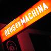 "outlineofash: a lit-up sign reads, ""Deus ex Machina."" (Writing - Deus Ex Machina)"