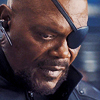 scrollgirl: nick fury in three-quarters profile close-up (marvel fury)