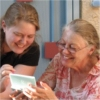 revena: My mother and myself, playing a video game (Mom and Me)