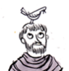 vixenmage: St. Francis wiv a bird on 'is haid! (Francis)
