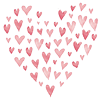 darwin: A heart made up of lots of small pink hearts. (♥)