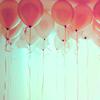 beachlass: pink balloons (balloons)