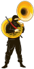 callmesquinky: A ninja playing the sousaphone. It's hard to be a ninja when you've got a sousaphone. Trust me, I've tried. (Default)