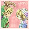 lady_noremon: Sheik facing Link who is wearing the bunny hood. (Shink love :D)