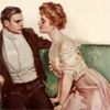 lasergirl: edwardian gentleman cowering from a overly forward female of the species (awkward moment)