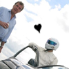 lasergirl: jeremy clarkson from top gear and the stig with a heart between them (top gear stig love)