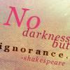 consectari: (ignorance)