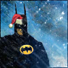 runpunkrun: batman looking grim in a santa hat (he knows if you've been bad or good)