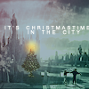 runpunkrun: spires of atlantis with a christmas tree on the pier, text: it's christmastime in the city (it's christmas time in the ancient city)