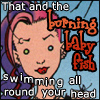 """oyceter: Delirium from Sandman with caption """"That and the burning baby fish swimming all round your head"""" (delirium)"""