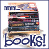 "oyceter: Stack of books with text ""mmm... books!"" (mmm books)"