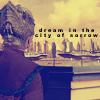 """nenya_kanadka: Minbari figure against cityscape: """"To dream in the City of Sorrows"""" (B5 Tuzanor City of Sorrows)"""