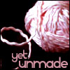 "oyceter: Pink ball of yarn with text ""yet unmade"" (yarn)"