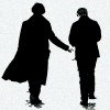 ladyvyola: Sherlock and John walking away side by side (the game is afoot)