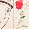 runespoor: close-ups of naruto and sakura's face as sakura looks up and breathes sasuke-kun's name; the word bubble is empty. (sasuke-kun || narusaku is all about)