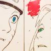 runespoor: close-ups of naruto and sakura's face as sakura looks up and breathes sasuke-kun's name; the word bubble is empty. (sasuke-kun || narusaku is all about)