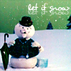 jaxadorawho: (Seasonal ☆ Winter ~ Snowman let it snow)