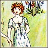 naraht: Young girl. Illustration by Kate Greenaway (hist-Greenaway)