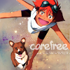 "lovepeaceohana: Ed and Ein, with text that says ""carefree"" (ed carefree)"