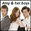 glinda: Amy Pond with Rory and the 11th Doctor - text Amy & her boys (amy & her boys)
