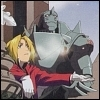 kate_nepveu: Ed and (armored) Al standing together in snow (Fullmetal Alchemist)