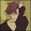 kate_nepveu: Hakkai from front with hand in hair and small smile (Saiyuki (Hakkai))