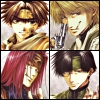 kate_nepveu: Goku, Sanzo, Goyjo, and Hakkai looking serious, one to each quarter of icon (Saiyuki (serious ikkou), Saiyuki)