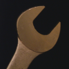 crazyscot: Close-up of a spanner on a dark background (spanner)