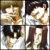 kate_nepveu: Goku, Sanzo, Goyjo, and Hakkai looking happy, one to each quarter of icon (Saiyuki (less serious ikkou))