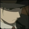 kate_nepveu: Mustang in civilian suit including dark hat (FMA (Roy Mustang - lyrical gangster))