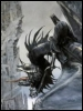 kate_nepveu: Nazgul on winged beast before Barad-dur (LotR: The Two Towers)