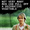 sally_maria: Fifth Doctor - text Not very many men can pull off a decorative vegetable (Doctor Five)