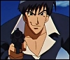 kate_nepveu: Wolfwood from front pointing gun toward viewer (Trigun (Wolfwood))