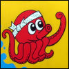 kate_nepveu: cartoon of octopus holding up one arm with end balled into fist (pow!)