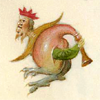 kate_nepveu: fantastical creature with crowned humanoid head, bird feet, and body of a bagpipe (how very peculiar)